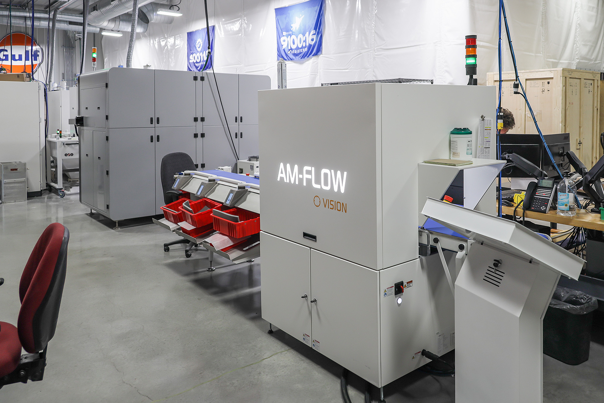 AM-SORT and AM-VISION at the heart of the production facility of Midwest Prototyping