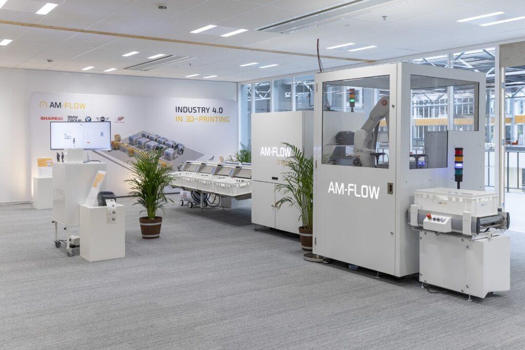 AM-Flow module setup for post 3D print workflow automation