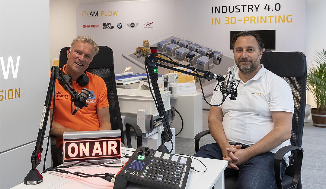 Podcast QRM4.0 bij AM-Flow met Ronald Scheer en Dennis Lieffering